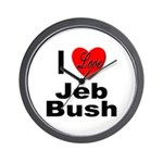 I Love Jeb Bush Wall Clock