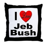I Love Jeb Bush Throw Pillow
