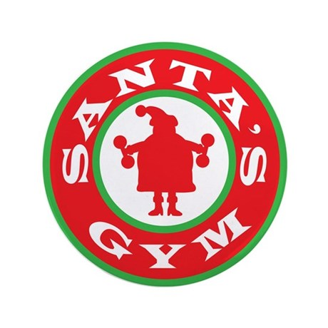 "Santa's Gym 3.5"" Button (100 pack)"