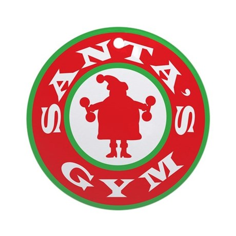 Santa's Gym Ornament (Round)
