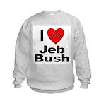 I Love Jeb Bush (Front) Kids Sweatshirt
