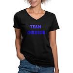 Team Emerson Women's V-Neck Dark T-Shirt