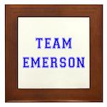 Team Emerson Framed Tile