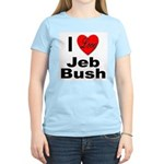 I Love Jeb Bush (Front) Women's Pink T-Shirt
