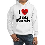 I Love Jeb Bush (Front) Hooded Sweatshirt