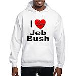 I Love Jeb Bush (Front) Hooded Sweatshirt