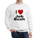 I Love Jeb Bush (Front) Sweatshirt