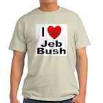 I Love Jeb Bush (Front) Ash Grey T-Shirt