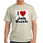 I Love Jeb Bush (Front) Ash Grey T-Shirt
