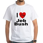 I Love Jeb Bush (Front) White T-Shirt