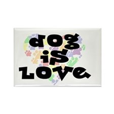 Dog is love, color Rectangle Magnet