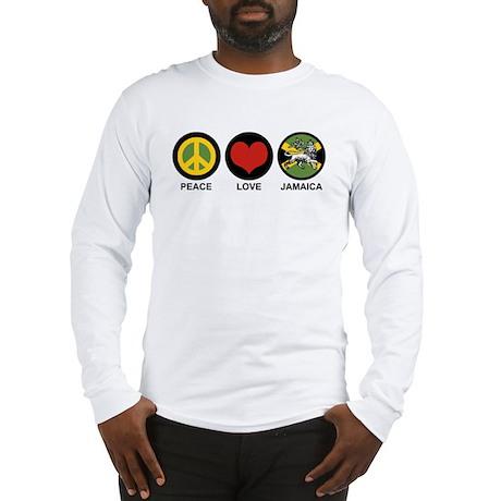Peace Love Jamaica Long Sleeve T-Shirt