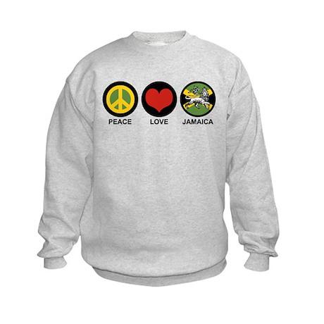 Peace Love Jamaica Kids Sweatshirt