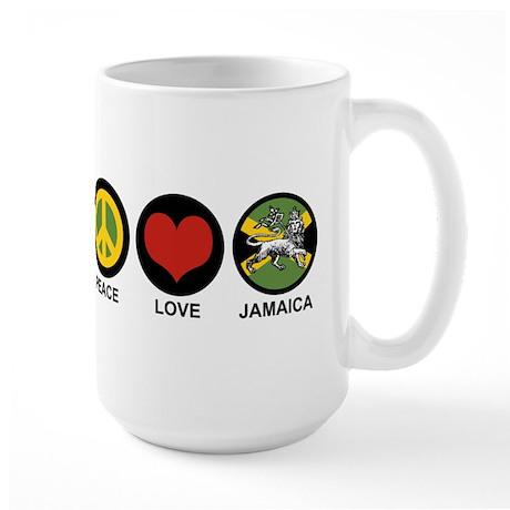 Peace Love Jamaica Large Mug