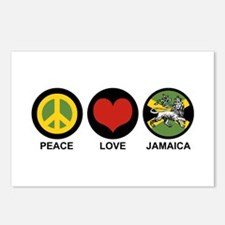 Peace Love Jamaica Postcards (Package of 8)