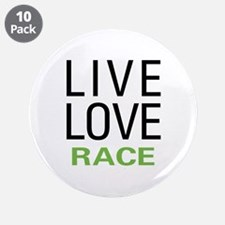 """Live Love Race 3.5"""" Button (10 pack)"""
