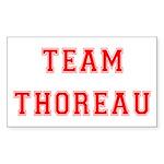 Team Thoreau Rectangle Sticker