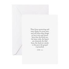 LUKE  7:22 Greeting Cards (Pk of 10)