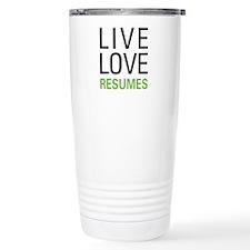 Live Love Resumes Travel Mug