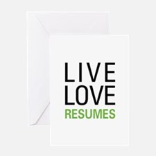 Live Love Resumes Greeting Card
