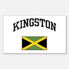 Kingston Jamaica Rectangle Decal