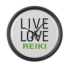 Live Love Reiki Large Wall Clock