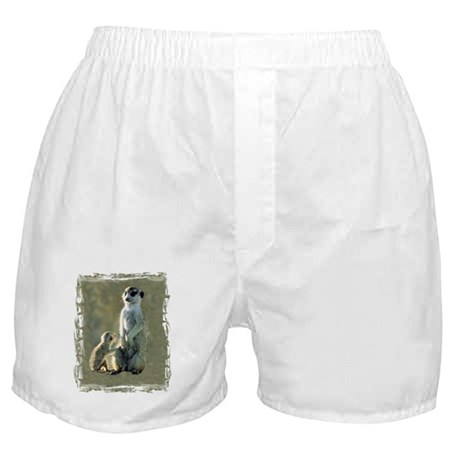 MEERKAT MOM AND PUP Boxer Shorts