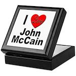 I Love John McCain Keepsake Box