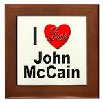 I Love John McCain Framed Tile