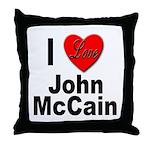 I Love John McCain Throw Pillow