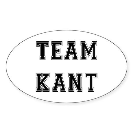 Team Kant Oval Sticker