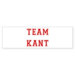 Team Kant Bumper Bumper Sticker