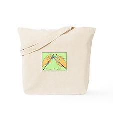 Knitting Hands Tote Bag