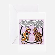 CAT CHAT 3 Blank Greeting Card