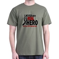 Never Knew A Hero 2 MELANOMA (Wife) T-Shirt