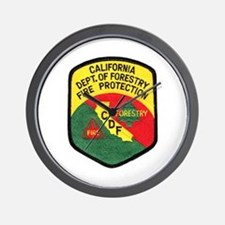 CDF Forestry Fire Wall Clock