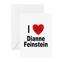 I Love Dianne Feinstein Greeting Cards (Package of