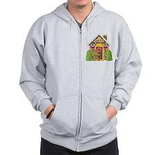 Gingerbread House Zip Hoodie