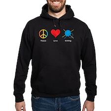 Cute Peace love knit Hoodie