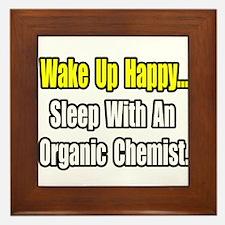 """Sleep w/ Organic Chemist"" Framed Tile"