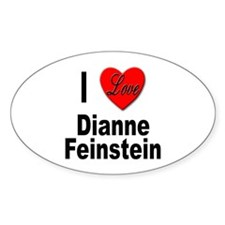 I Love Dianne Feinstein Oval Decal