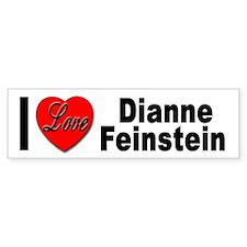 I Love Dianne Feinstein Bumper Bumper Sticker