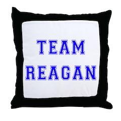 Team Reagan Throw Pillow