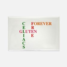 Celiacs Gluten Free Forever Rectangle Magnet