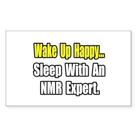 """""""..Sleep With an NMR Expert"""" Rectangle Sticker"""