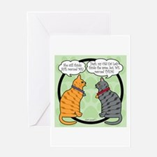 CAT CHAT 1 Greeting Card