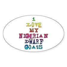 Nigerian Dwarf Oval Decal