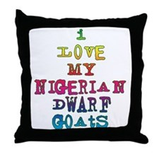 Nigerian Dwarf Throw Pillow