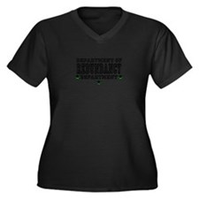 Cute Stupid Women's Plus Size V-Neck Dark T-Shirt