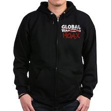 Global Warming Hoax Zip Hoodie